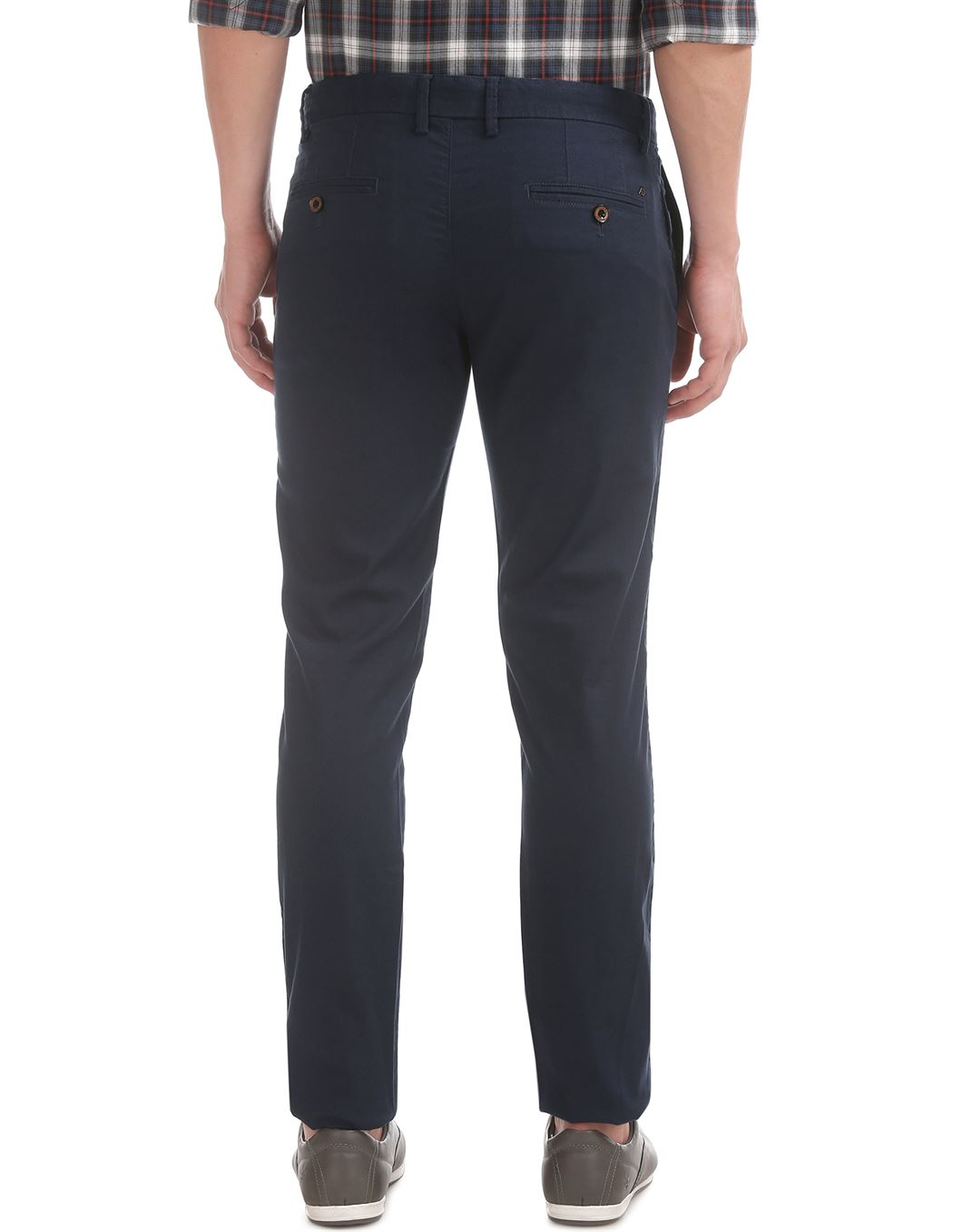 Arrow Sports Men Casual Wear Navy Blue Trouser