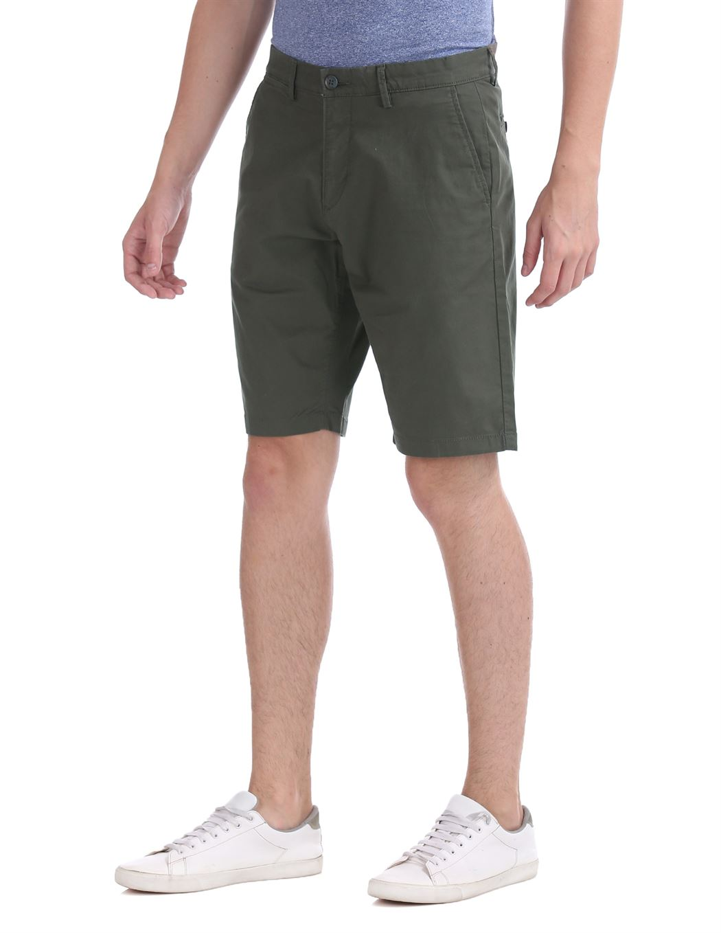 U.S. Polo Assn. Men Casual Wear Dark Green Basic Shorts