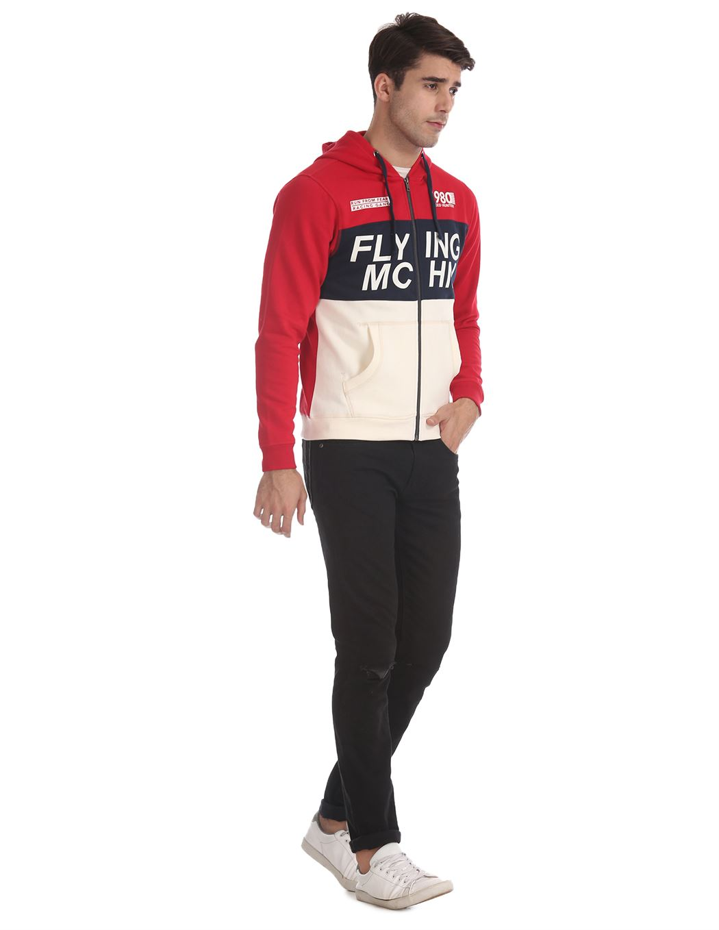 Flying Machine Men Casual Wear Multicolor Sweatshirt