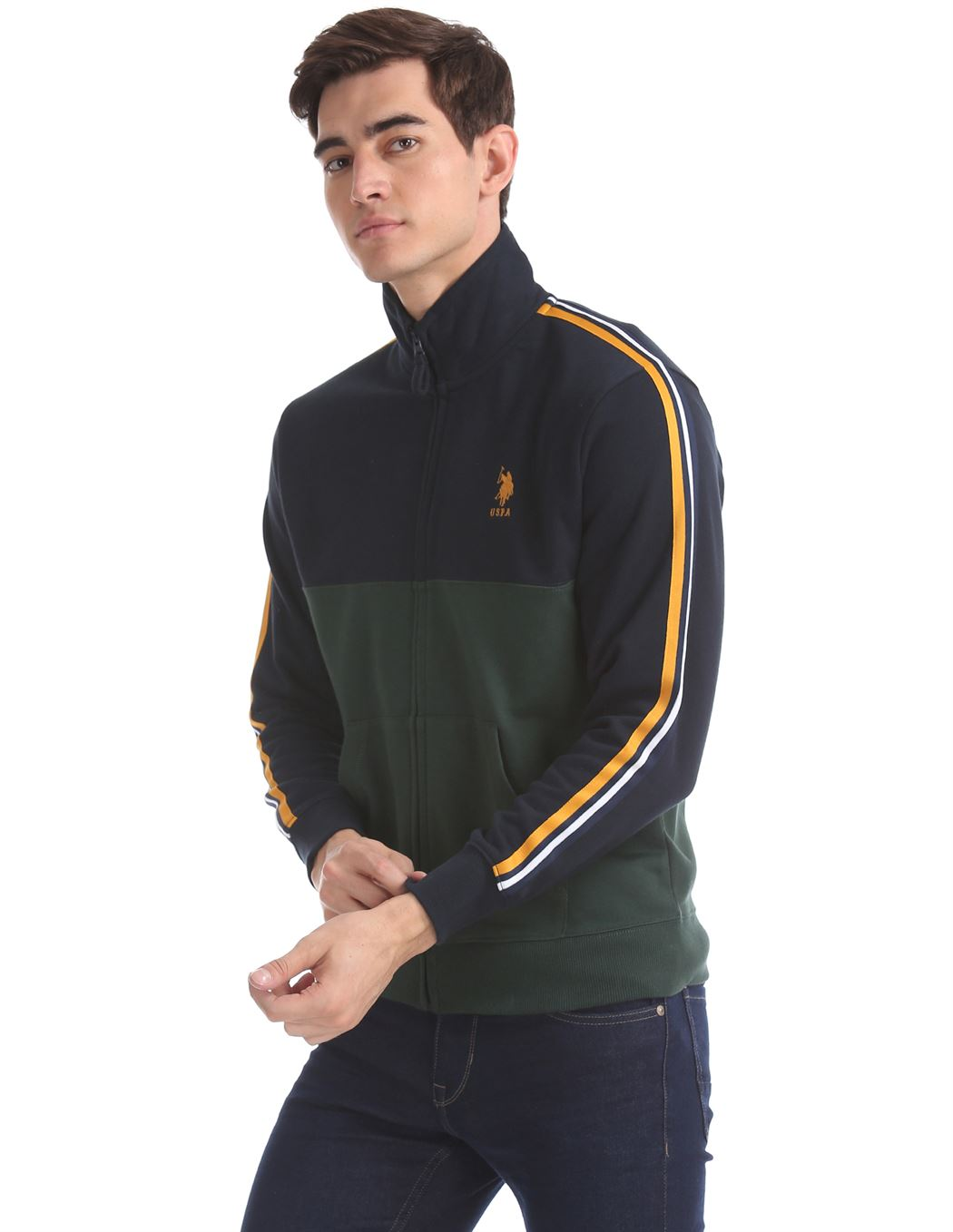 U.S. Polo Assn. Men Casual Wear Multicolor Sweatshirt
