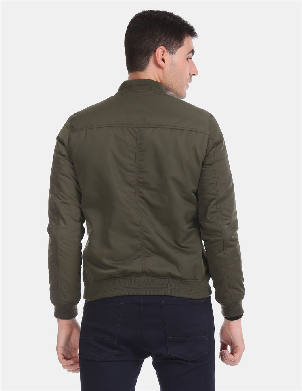 U.S. Polo Assn. Men Casual Wear Dark Green Bomber Jacket