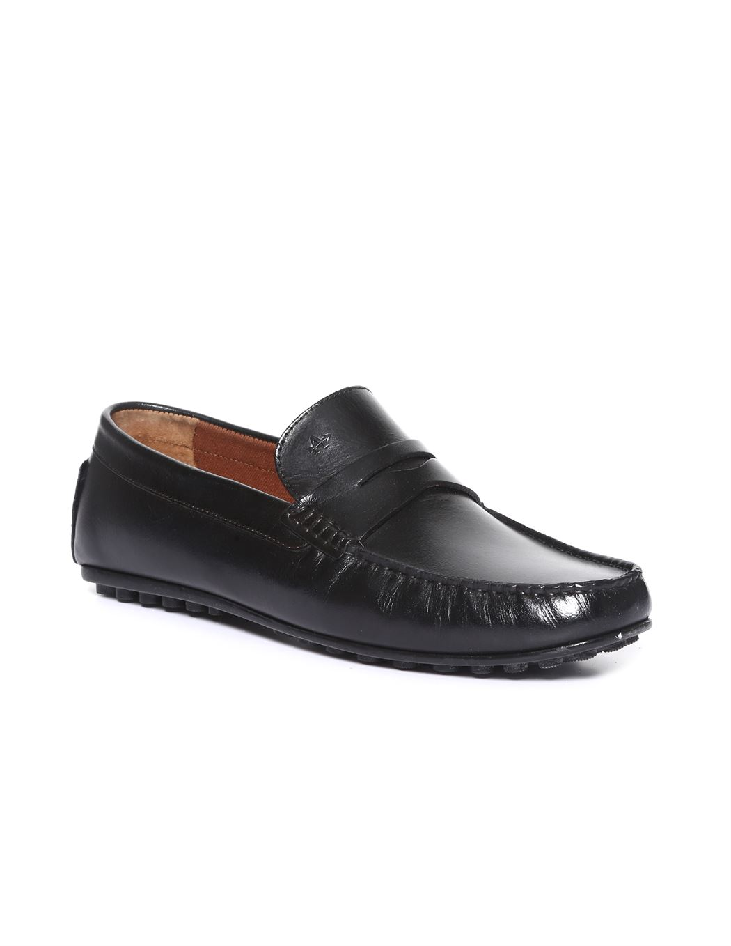 Arrow Men Formal Wear Black Slip On Loafers