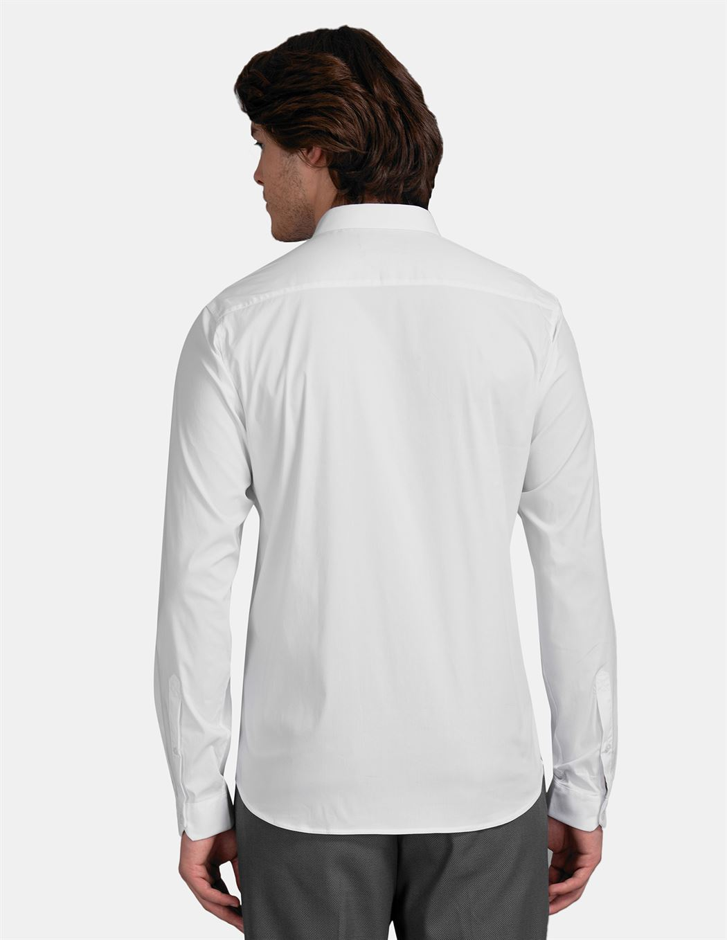 True Blue Men Casual Wear White Shirt