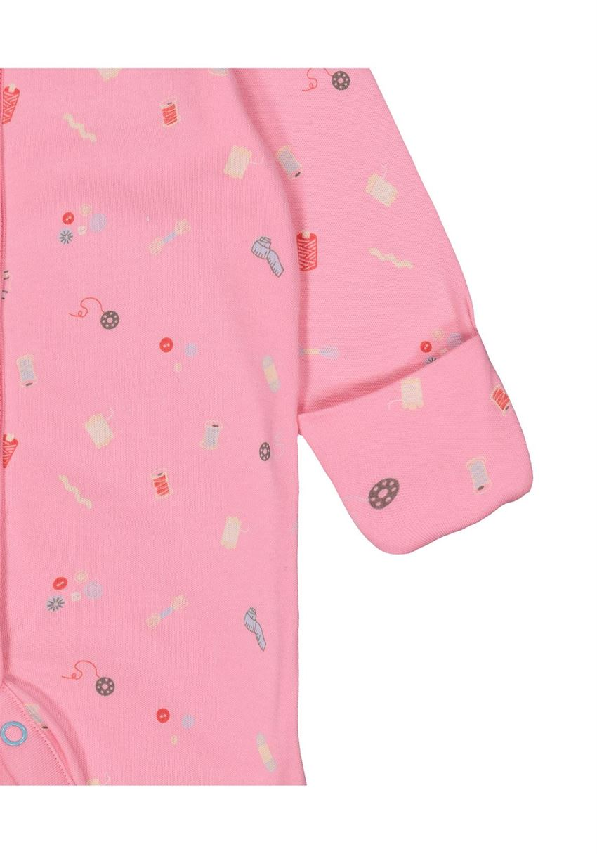 Mothercare Girls Pink Printed Pack of 3 Sleepsuit