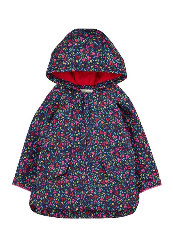 Mothercare Girls Navy Floral Print Jacket