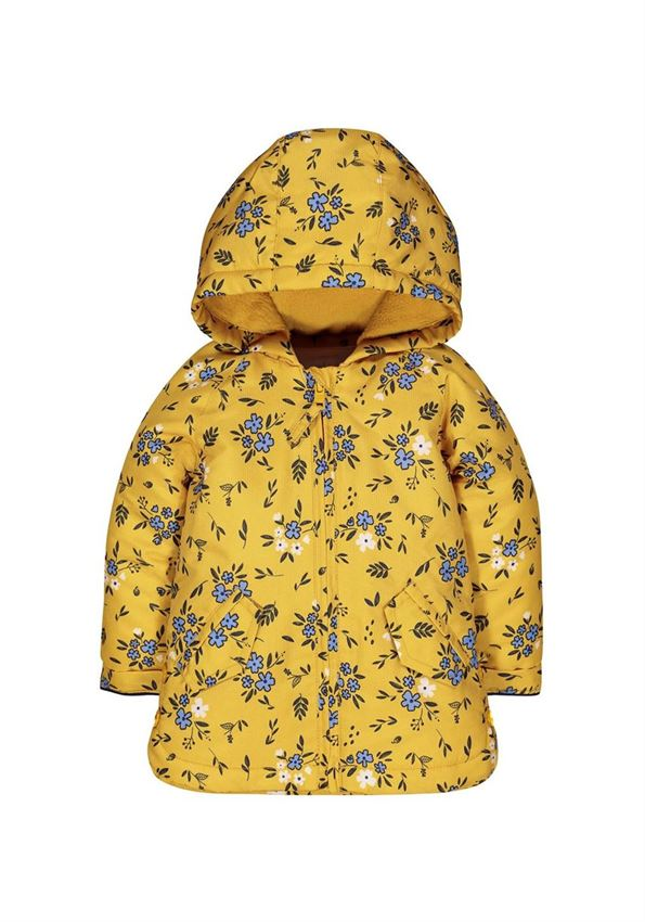 Mothercare Girls Yellow Floral Print Jacket
