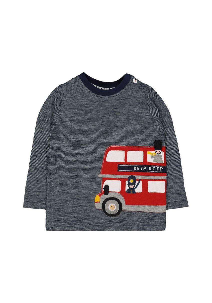 Mothercare Boys Navy Applique T-Shirt