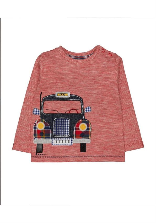 Mothercare Boys Red Applique T-Shirt