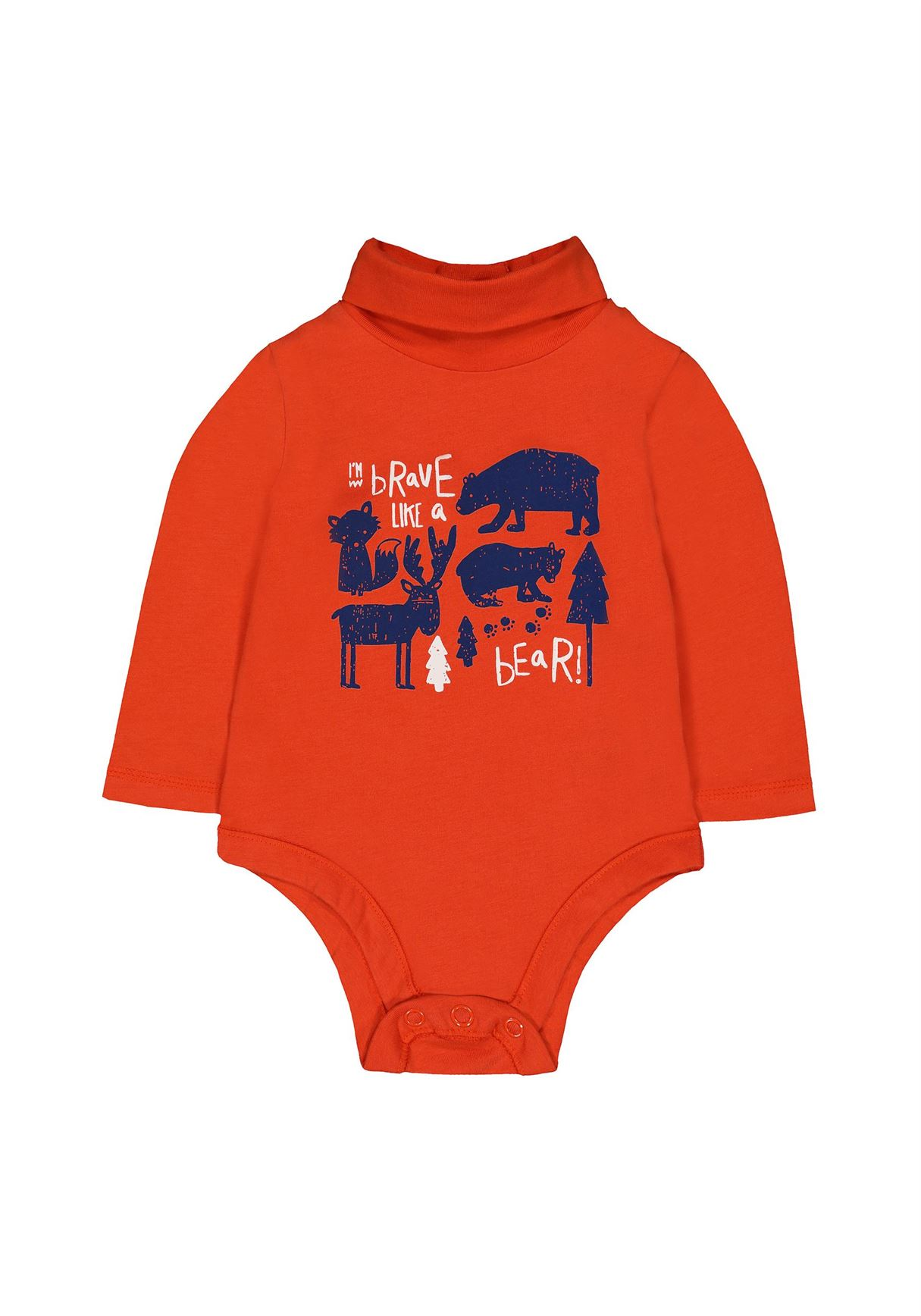 Mothercare Boys Orange Printed Bodysuit