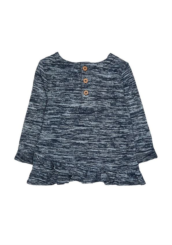 Mothercare Girls Blue Textured Top