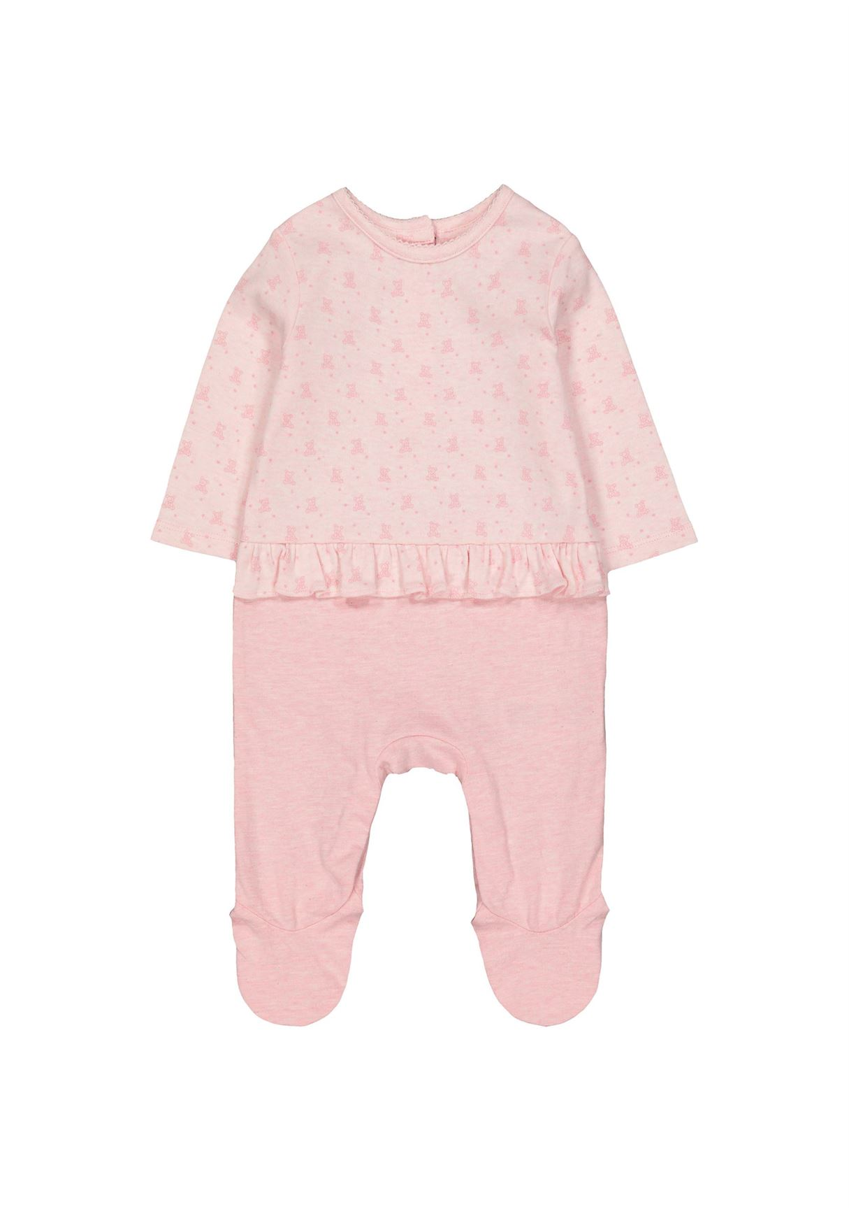 Mothercare Girls Pink Printed Sleepsuit