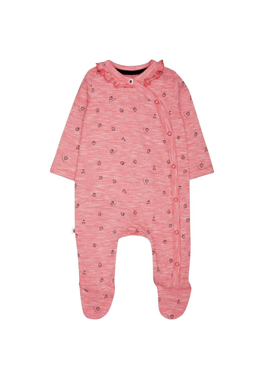 Mothercare Girls Red Printed Sleepsuit