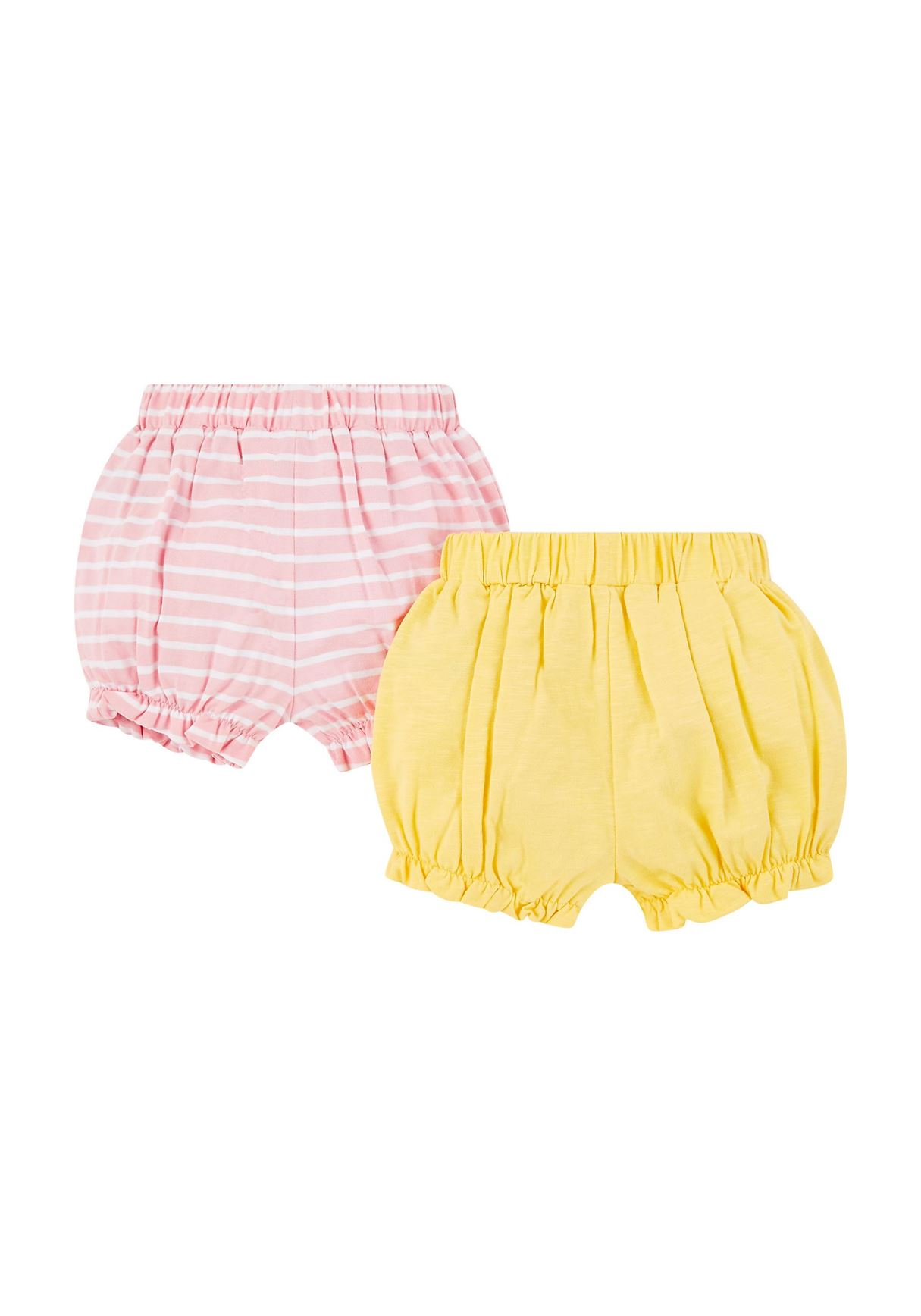 Mothercare Girls Assorted Printed Pack of 2 Shorts