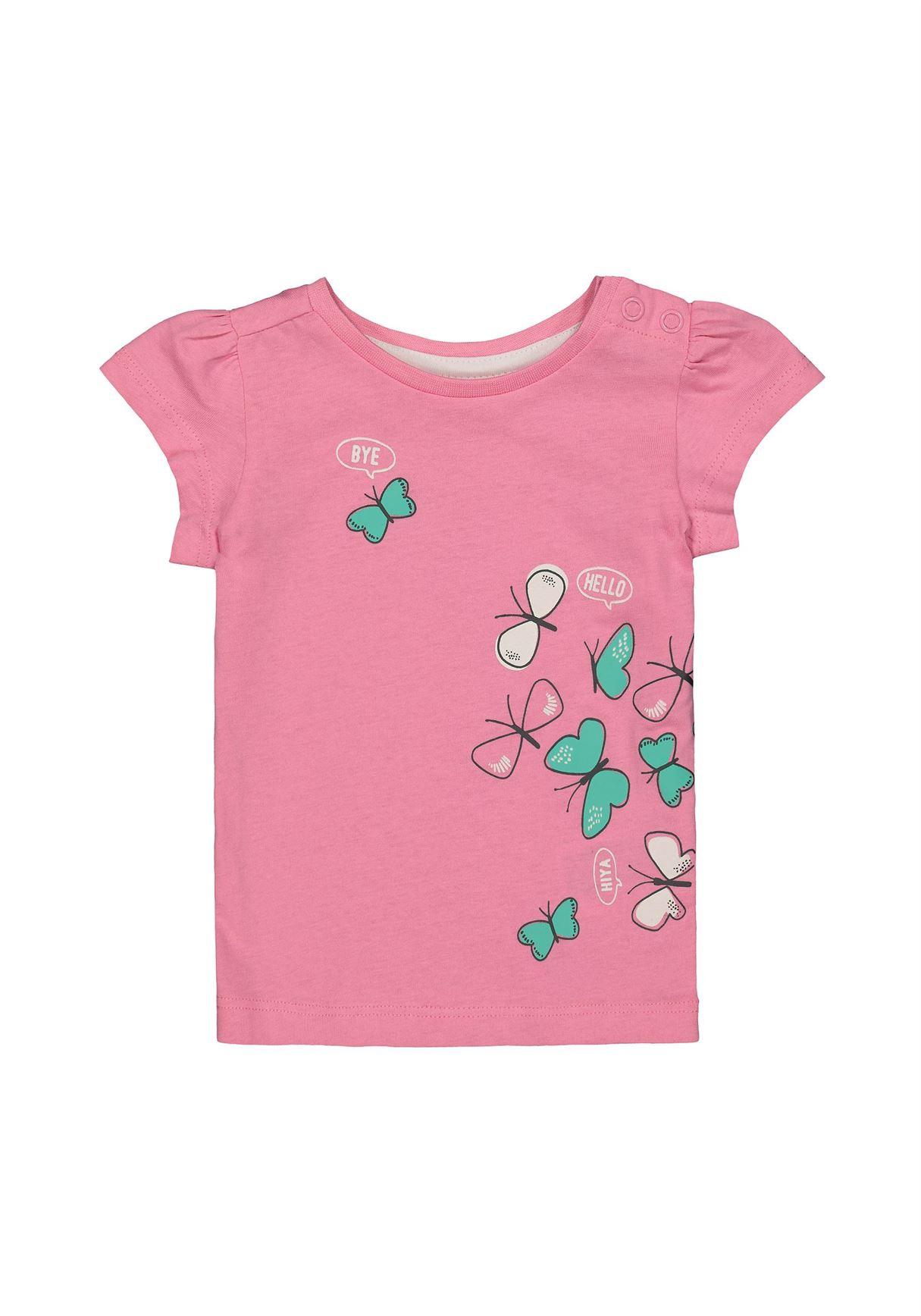 Mothercare Girls Pink Printed T-Shirt