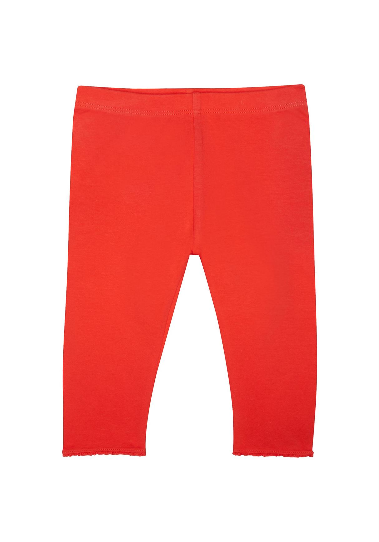 Mothercare Girls Red Solid Leggings