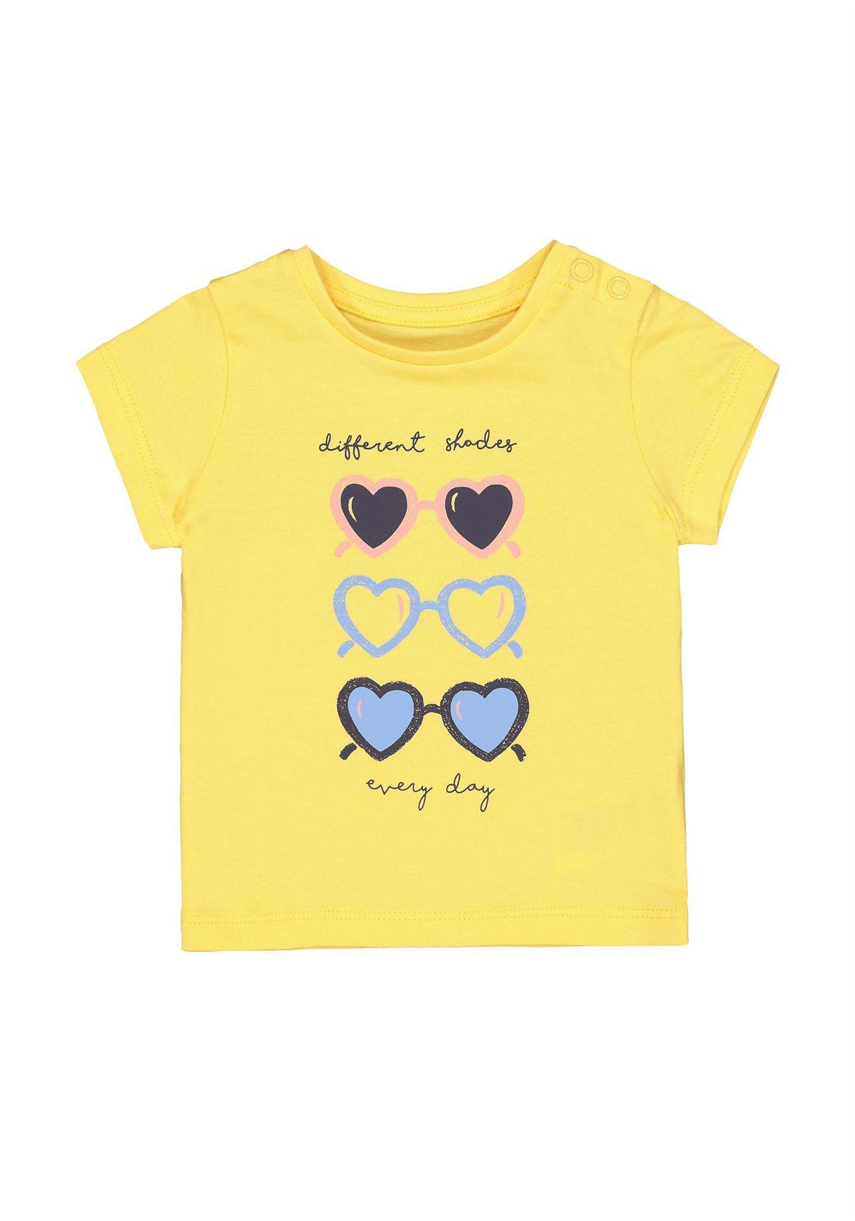 Mothercare Girls Yellow Printed T-Shirt