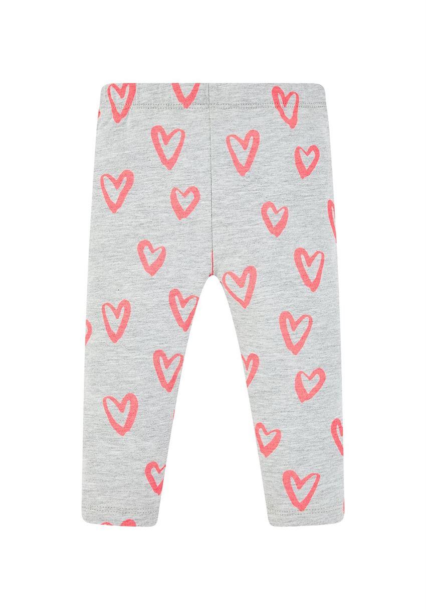 Mothercare Girls Grey Printed Leggings
