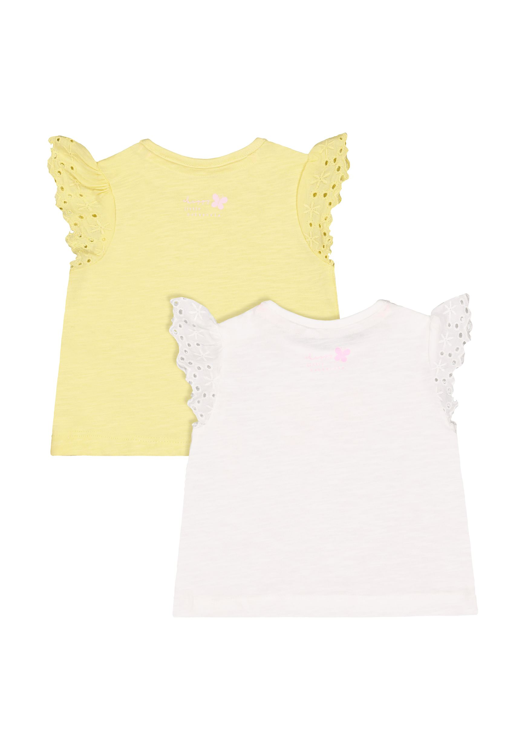 Mothercare Girls Assorted Printed Pack of 2 T-Shirts