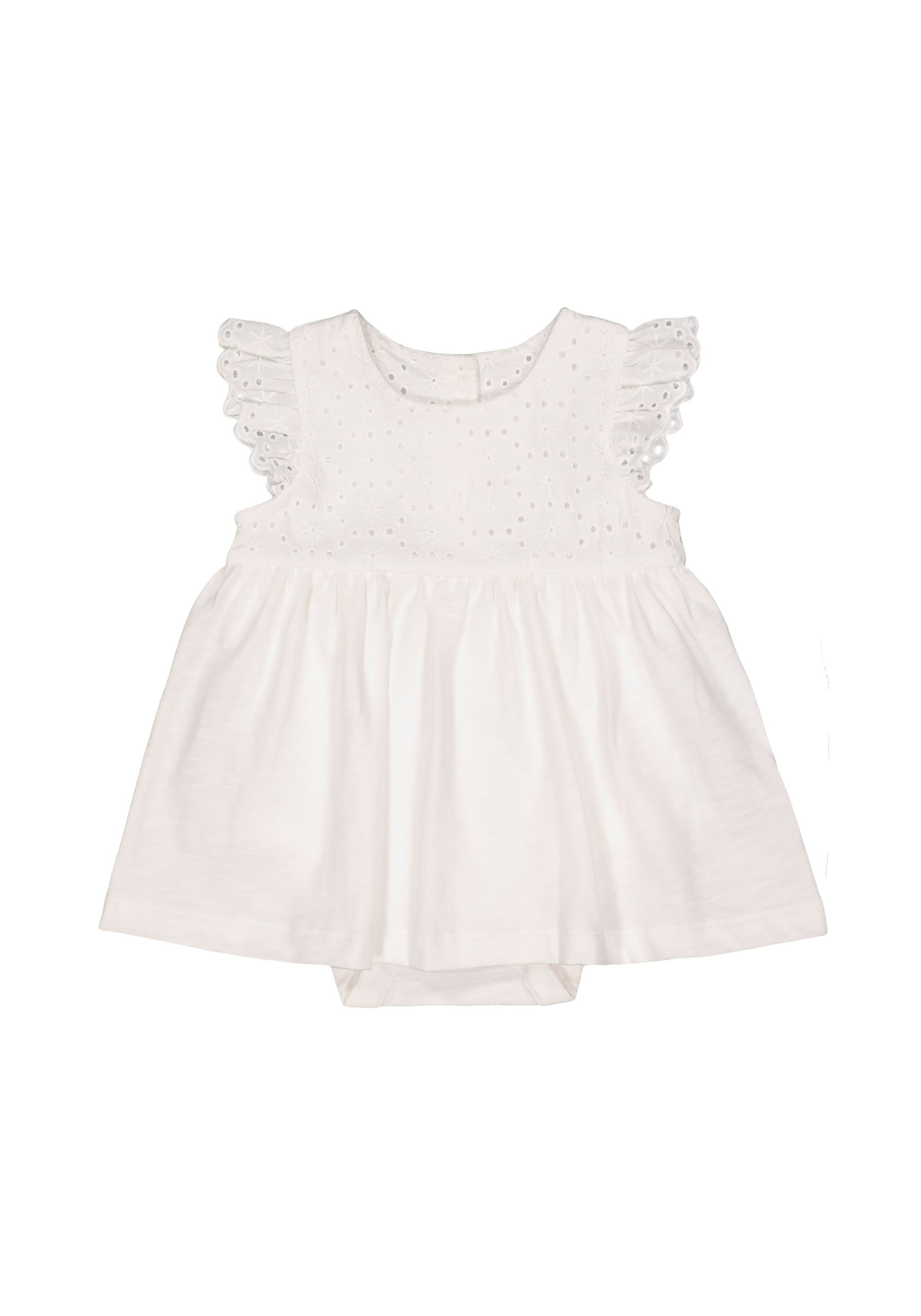 Mothercare Girls White Solid Dress & Panty Set