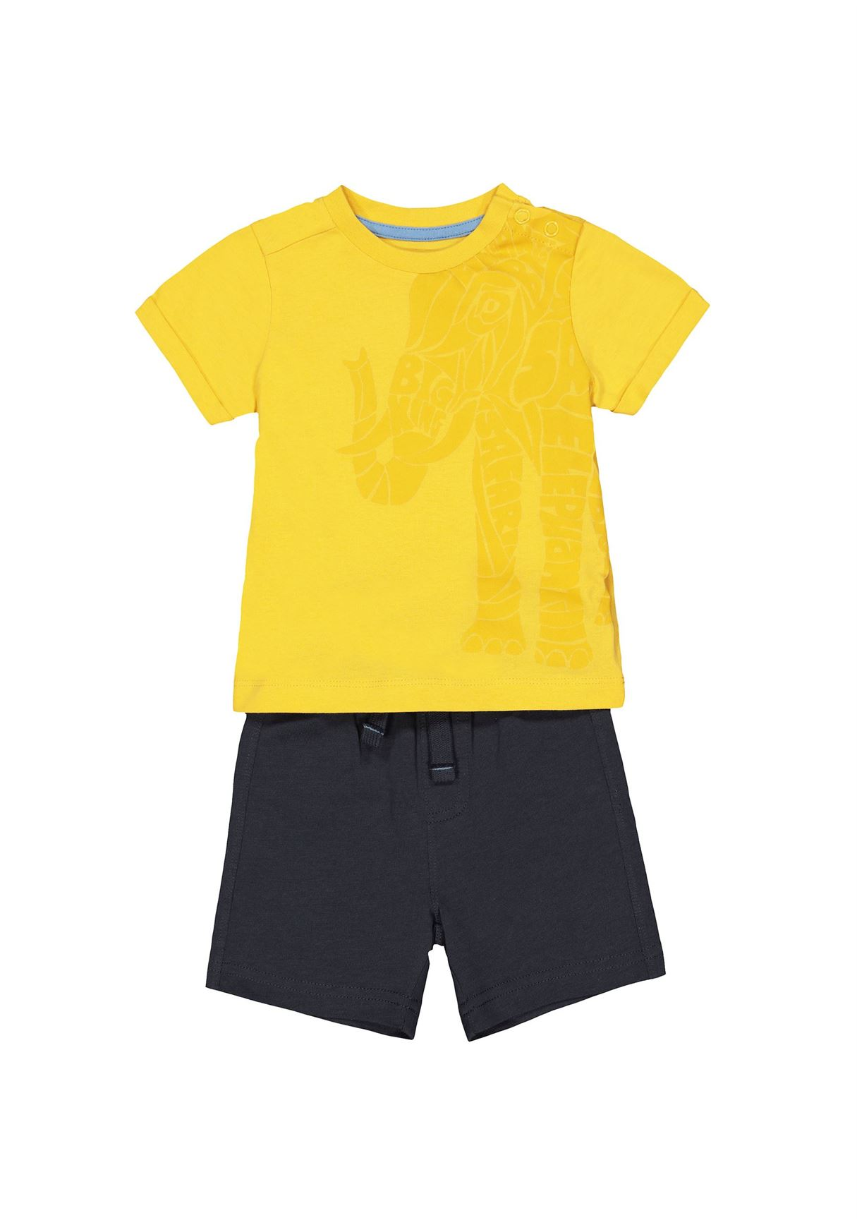 Mothercare Boys Multicolor Solid T-shirt & Shorts Set