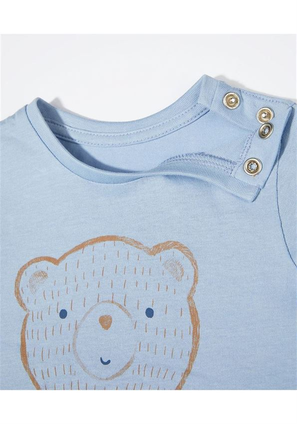 Mothercare Boys Blue Printed T-Shirt