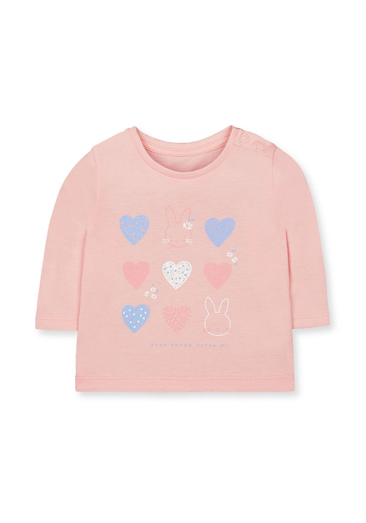 Mothercare Girls Pink Printed T-Shirt