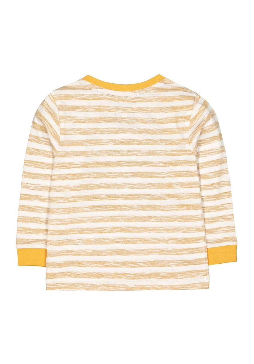 Mothercare Boys Yellow Striped T-Shirt
