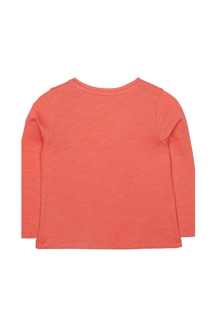 Mothercare Girls Orange Printed T-Shirt