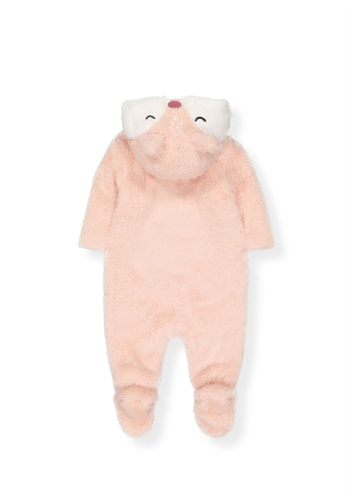 Mothercare Girls Pink Textured Snowsuit