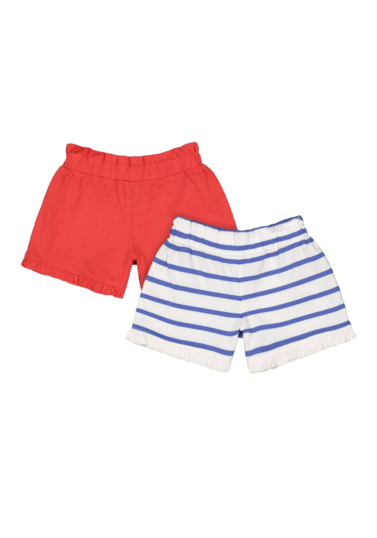 Mothercare Girls Assorted Striped Pack of 2 Shorts
