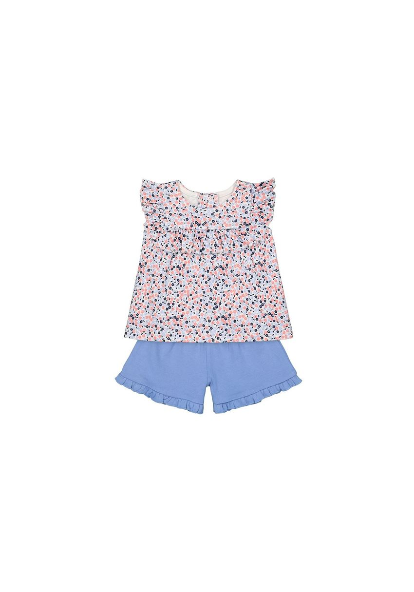Mothercare Unisex Multicolor Printed Top & Shorts Set