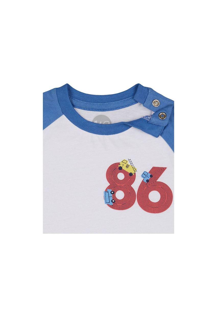 Mothercare Boys Blue Color Block T-Shirt & Joggers Set