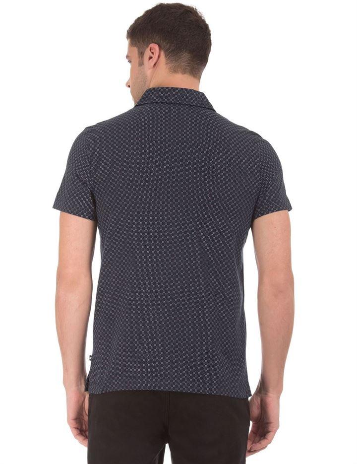 Nautica Men Casual Wear Printed Polo T-Shirt
