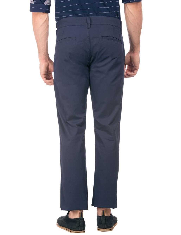 Nautica Men Casual Wear Solid Trouser