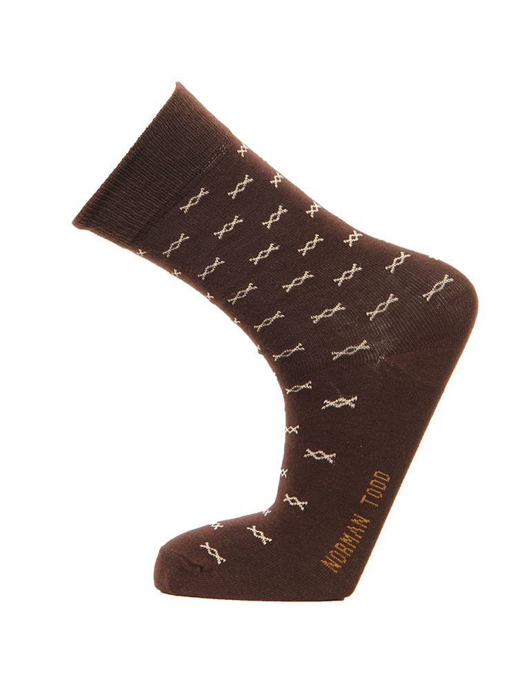 Norman Todd Casual Wear Printed Socks