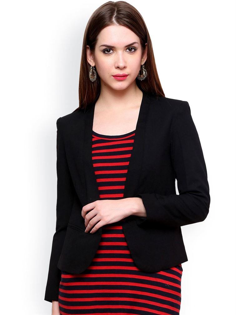 Pannkh Women Ethnic Wear Solid Blazer
