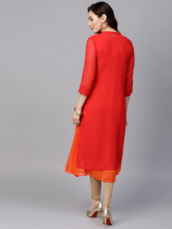 Pannkh Women Ethnic Wear Solid Kurta