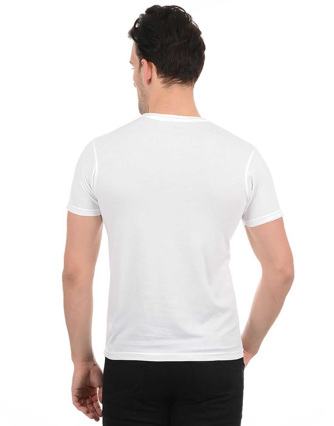 Pepe Jeans Men Casual Wear White T-Shirt