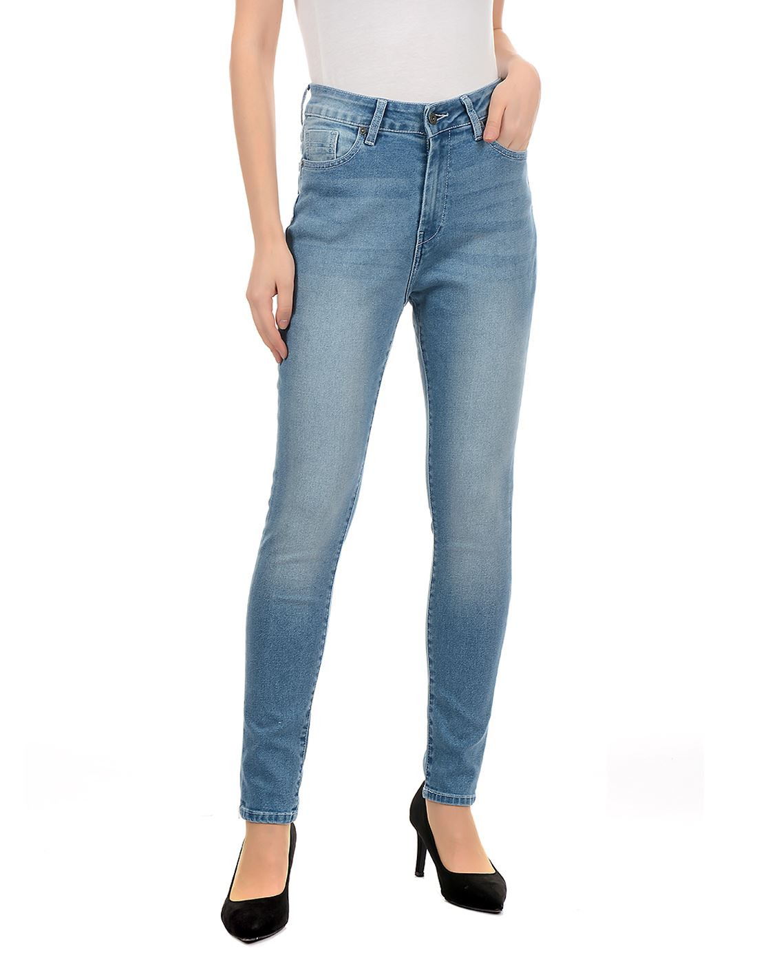 Pepe Jeans Women Casual Wear Blue Jeans