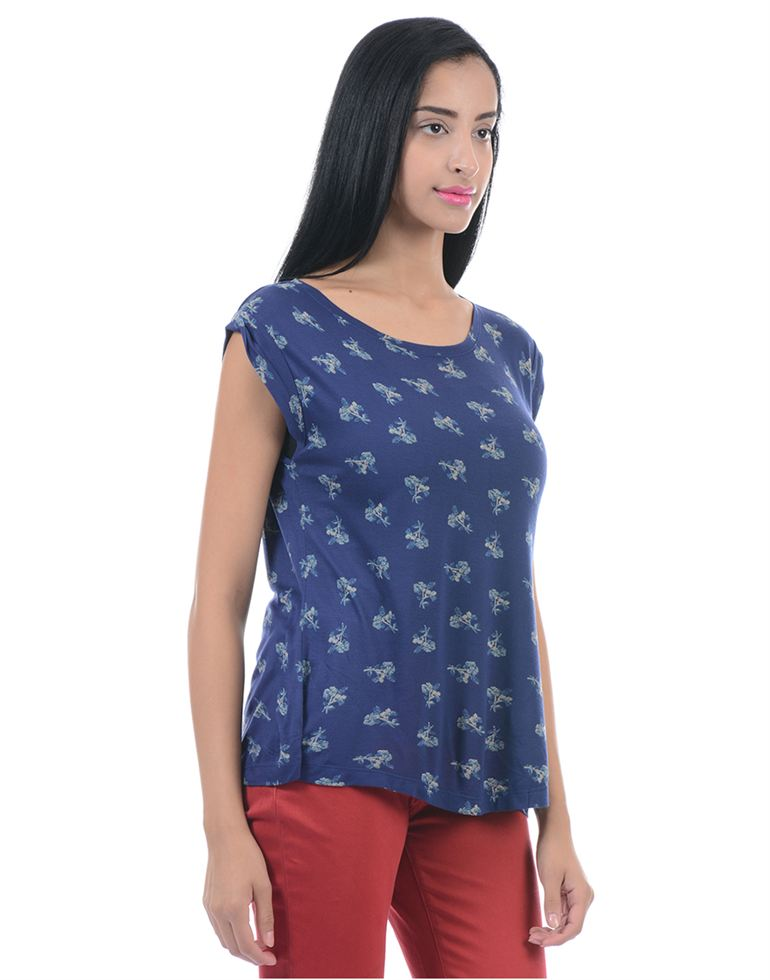 Pepe Jeans Women Casual Wear Navy Blue Top