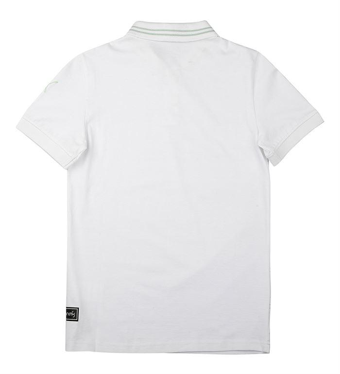 Puma Kids White Casual Wear T-Shirt