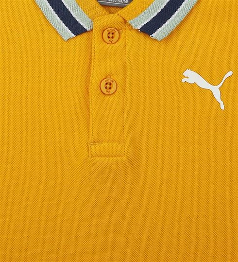 Puma Kids Yellow Casual Wear T-Shirt
