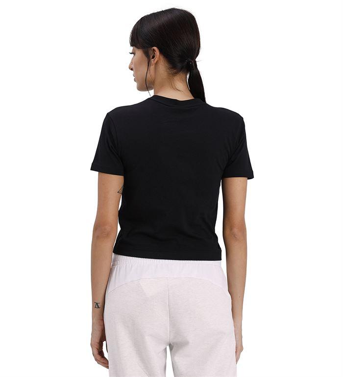 Puma Women Casual Wear Black T-Shirt