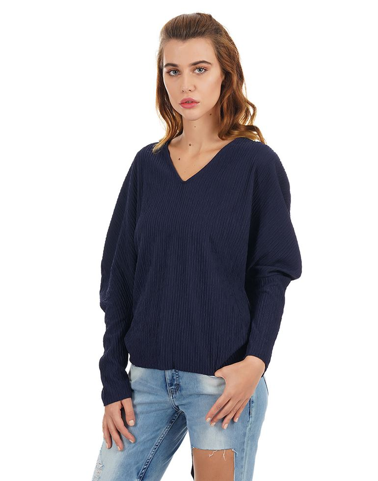 Rareism Women Casual Wear Texture Top