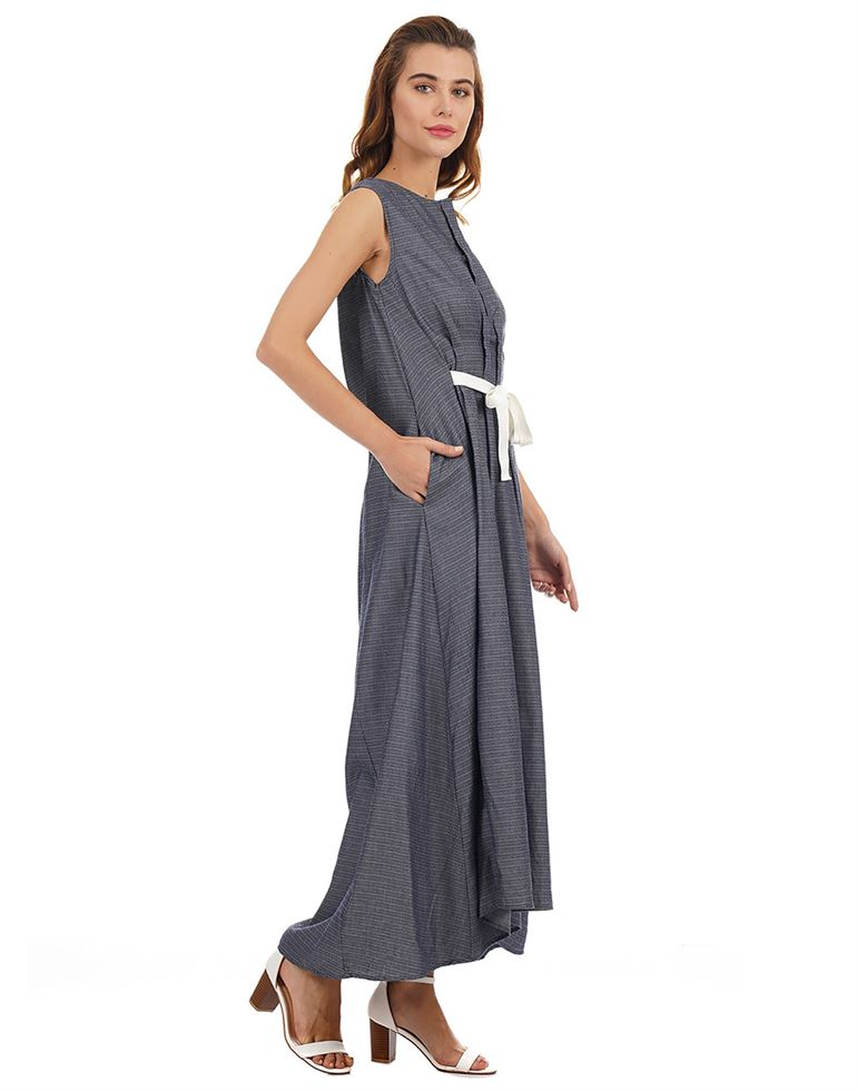 Rareism Women Casual Wear Striped Dress