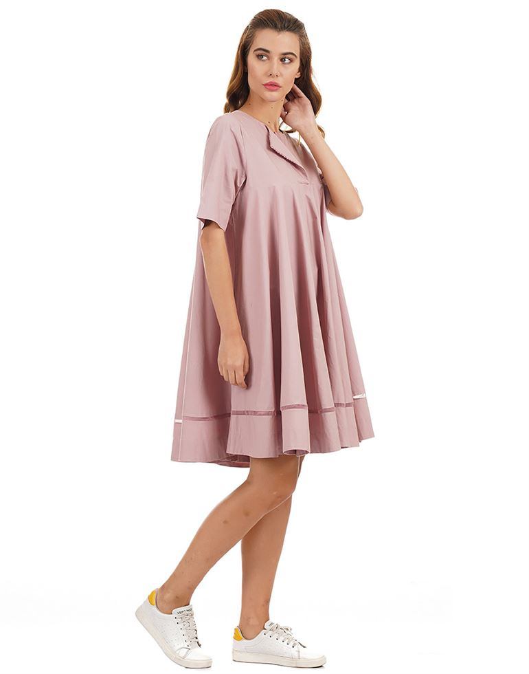 Rareism Women Casual Wear Solid Dress