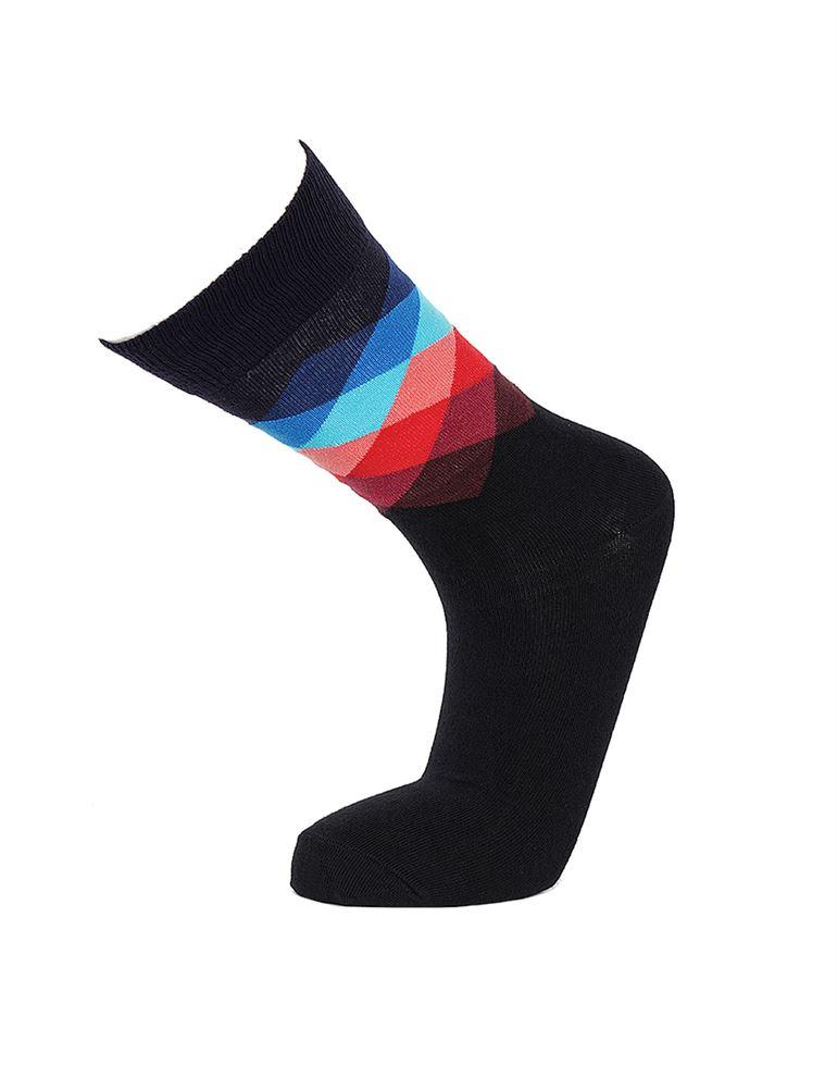 Simple Habits Unisex Combed Cotton Self Design Calf Length Socks