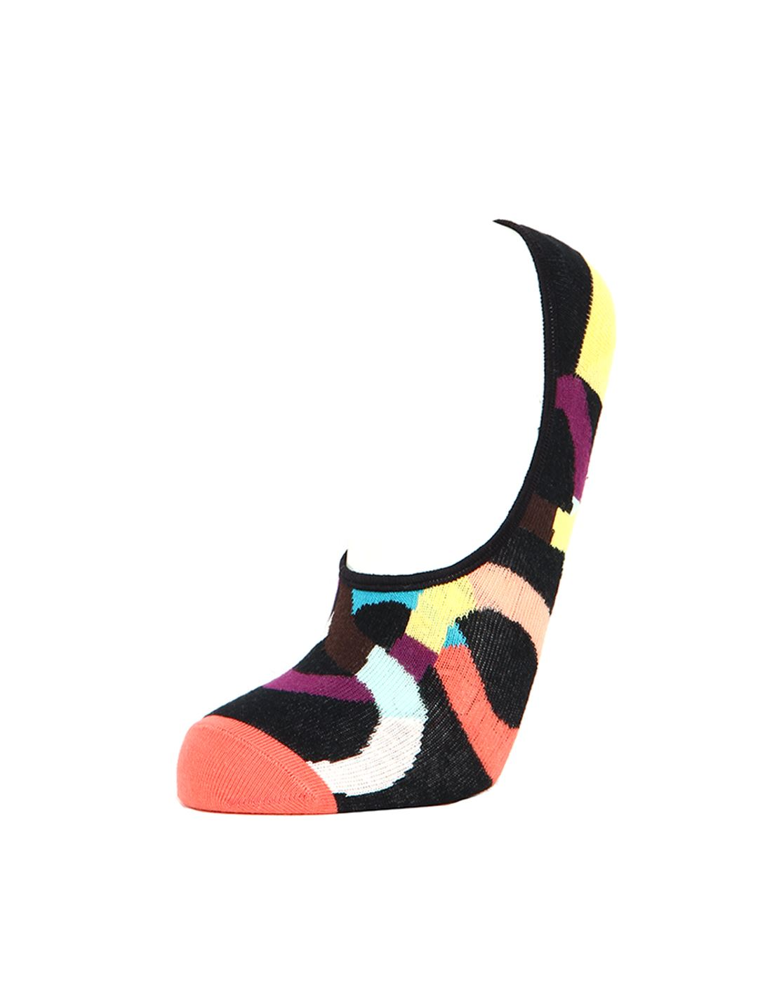 Simple Habits Unisex Combed Cotton Self Design No Show Socks