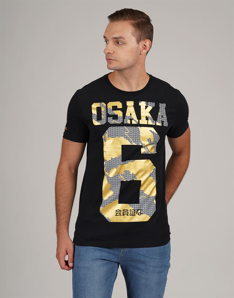 Superdry Men Casual Wear Chest Print T-Shirt