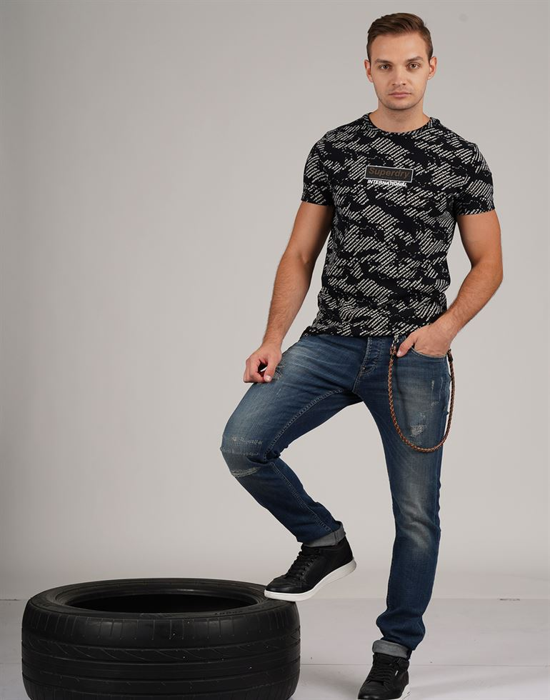 Superdry Men Casual Wear Printed T-Shirt